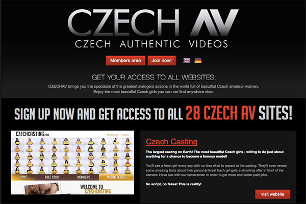 CzechAV provides tons of amateur contents