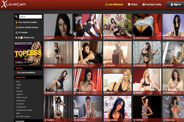 XLoveCam the top for live cam shows