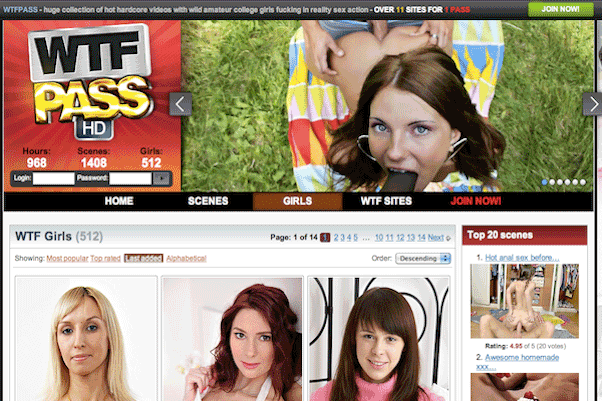 WTFpass is a big hd porn network