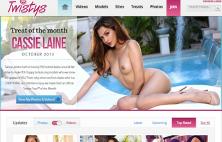 Twistys welcome page