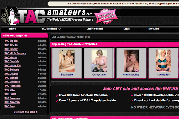 TACAmateurs the best network for amateur porn